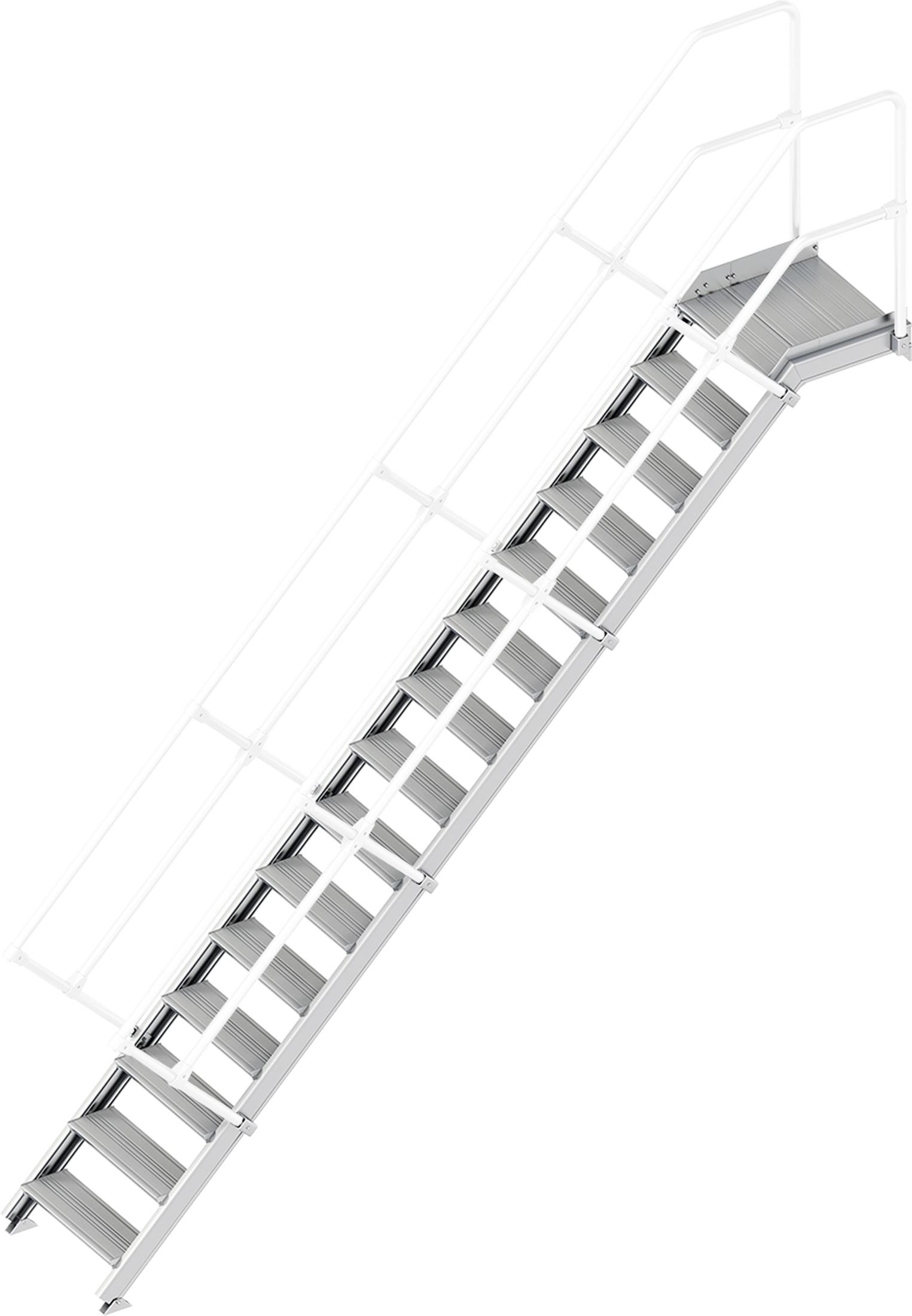 Layher Plattformtreppe 45° 15 Stufen - 600 mm breit
