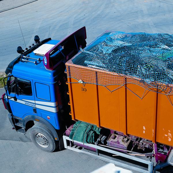 Containernetz mit Gummispannleine