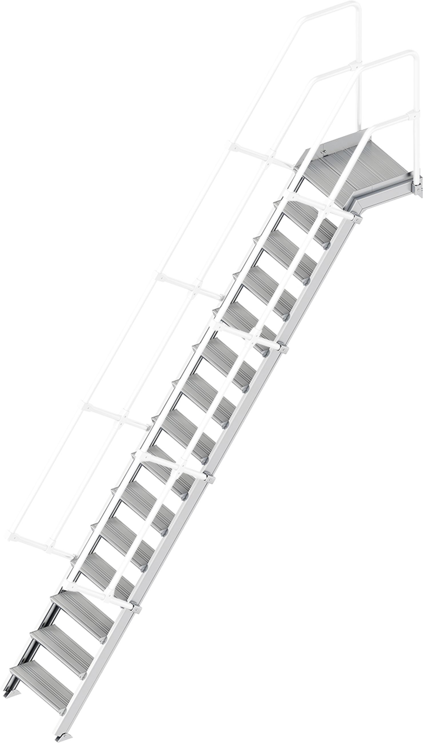 Layher Plattformtreppe 55° 15 Stufen - 600 mm breit