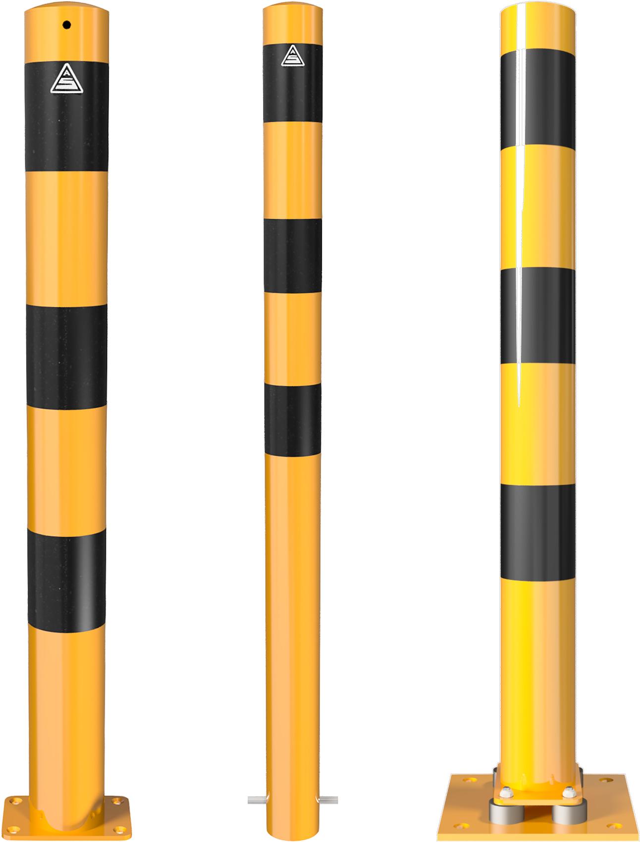 Schake Absperrpfosten Ø 89 mm gelb | schwarz