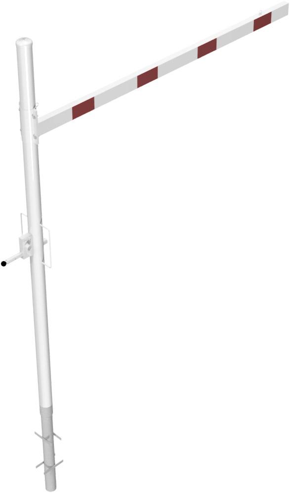 Schake Höhenbegrenzer variabel - 1 Drehpfosten Stahl Ø 102 mm weiß | rot