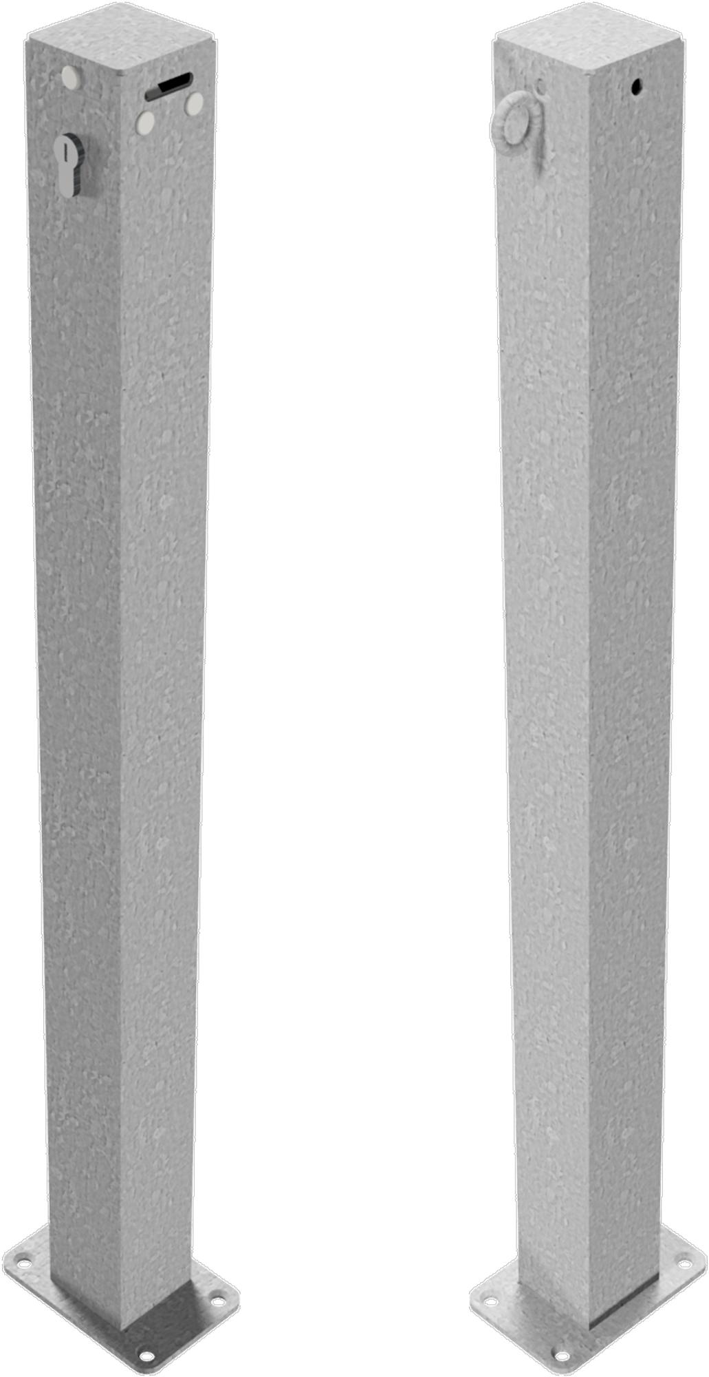 Schake Absperrkettenpfosten Stahl 70 x 70 mm verzinkt