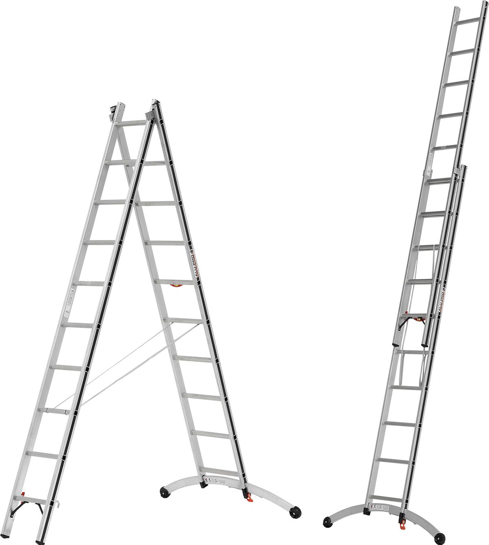 Hymer Alu-Pro Mehrzweckleiter Smart-Base 2-teilig 2x10 - 2x12 Sprossen