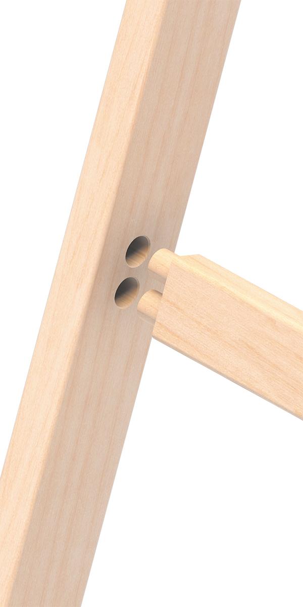 Layher Stehleiter Holz 2x3 Sprossen