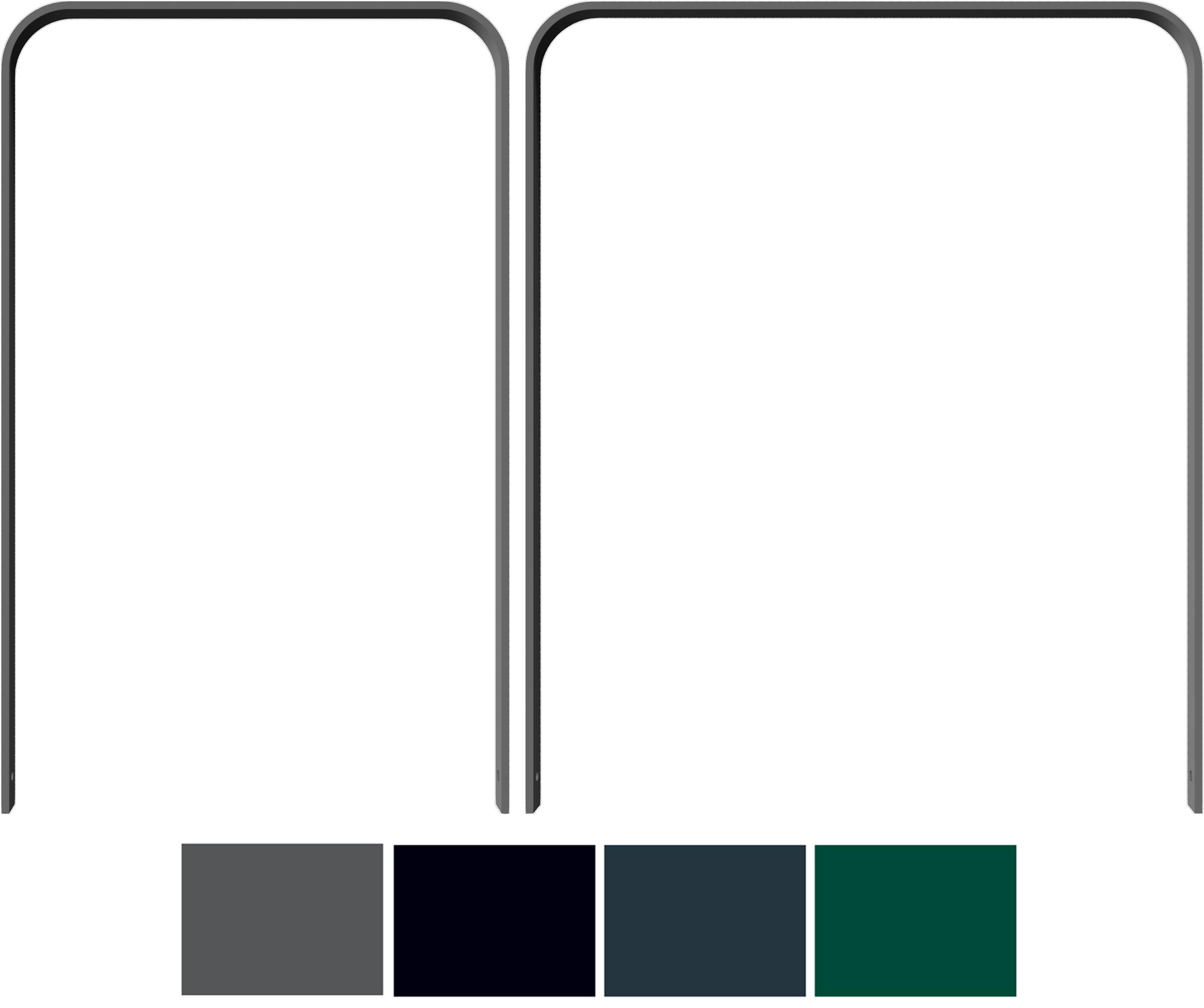 Schake Anlehnbügel Flachstahl gebogen 50 x 12 mm Sonderfarben
