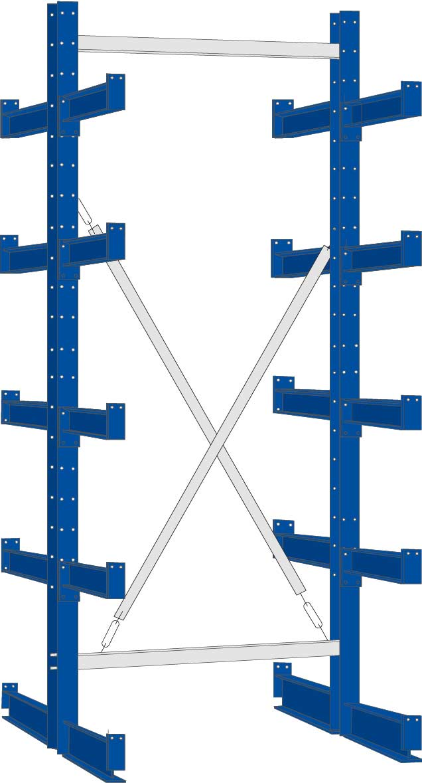 Regalwerk KARL Kragarmregal Typ 2|500 doppelseitig