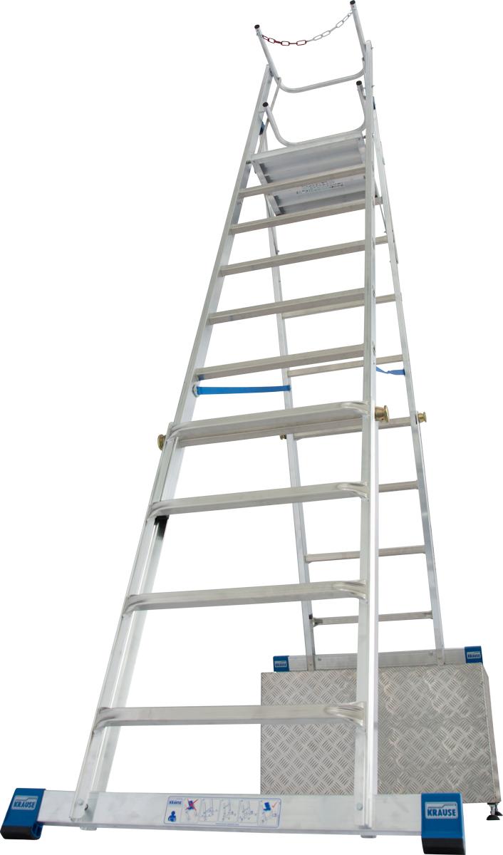 Krause Alu-Teleskop-Plattformleiter 8-10 Stufen