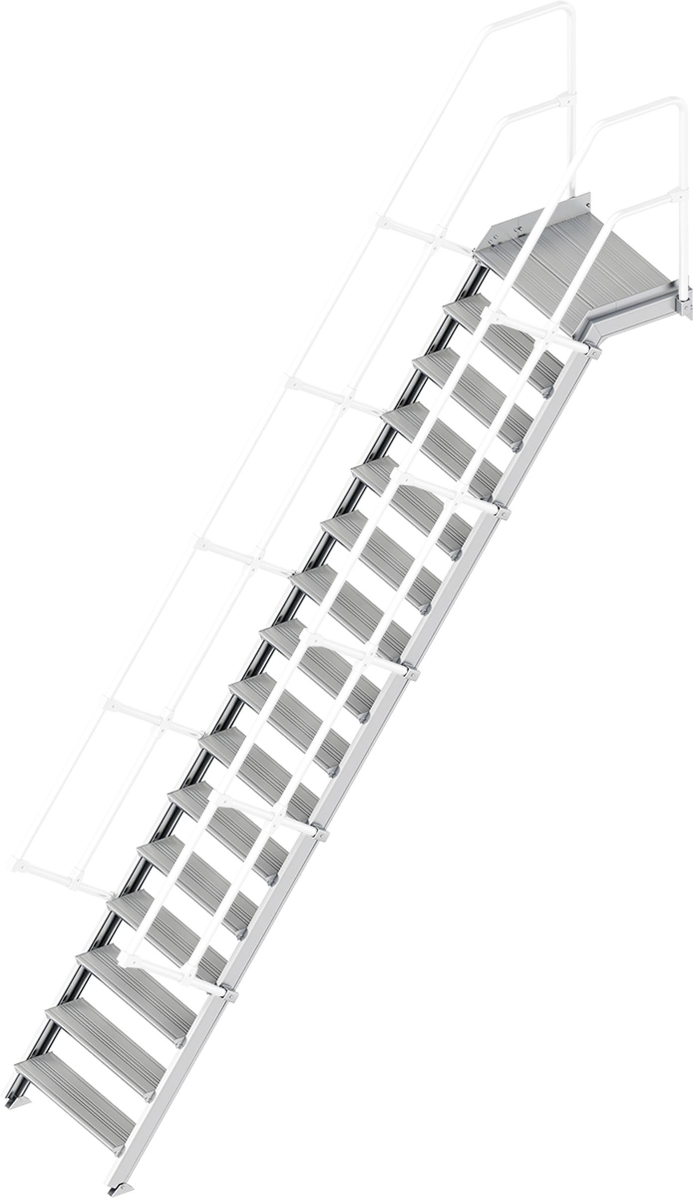Layher Plattformtreppe 55° 16 Stufen - 800 mm breit