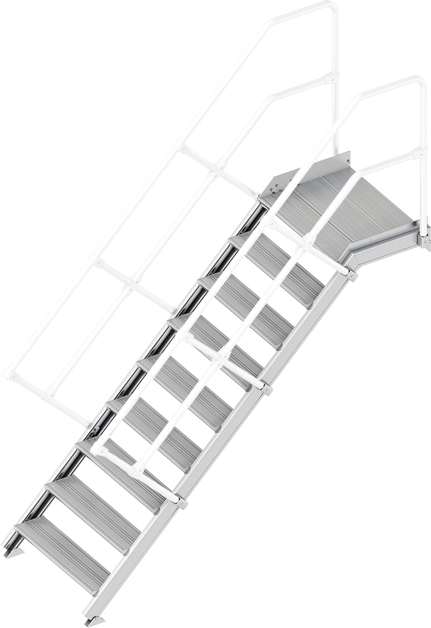 Layher Plattformtreppe 45° 9 Stufen - 800 mm breit