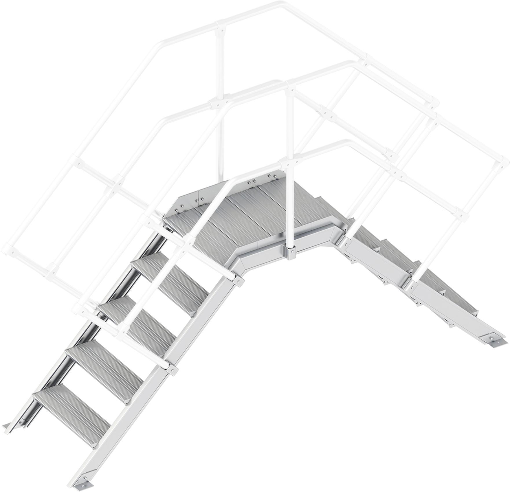 Layher Übergang 45° 5 Stufen - 600 mm breit