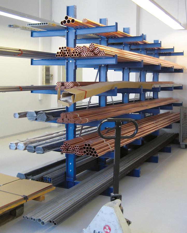 Regalwerk KARL Kragarmregal Typ 2|500 doppelseitig - Komplettset