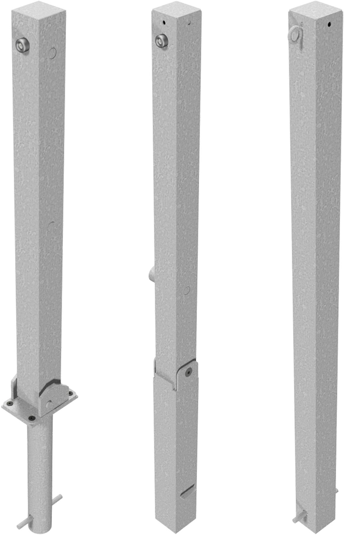 Schake Absperrpfosten Stahl 70 x 70 mm verzinkt