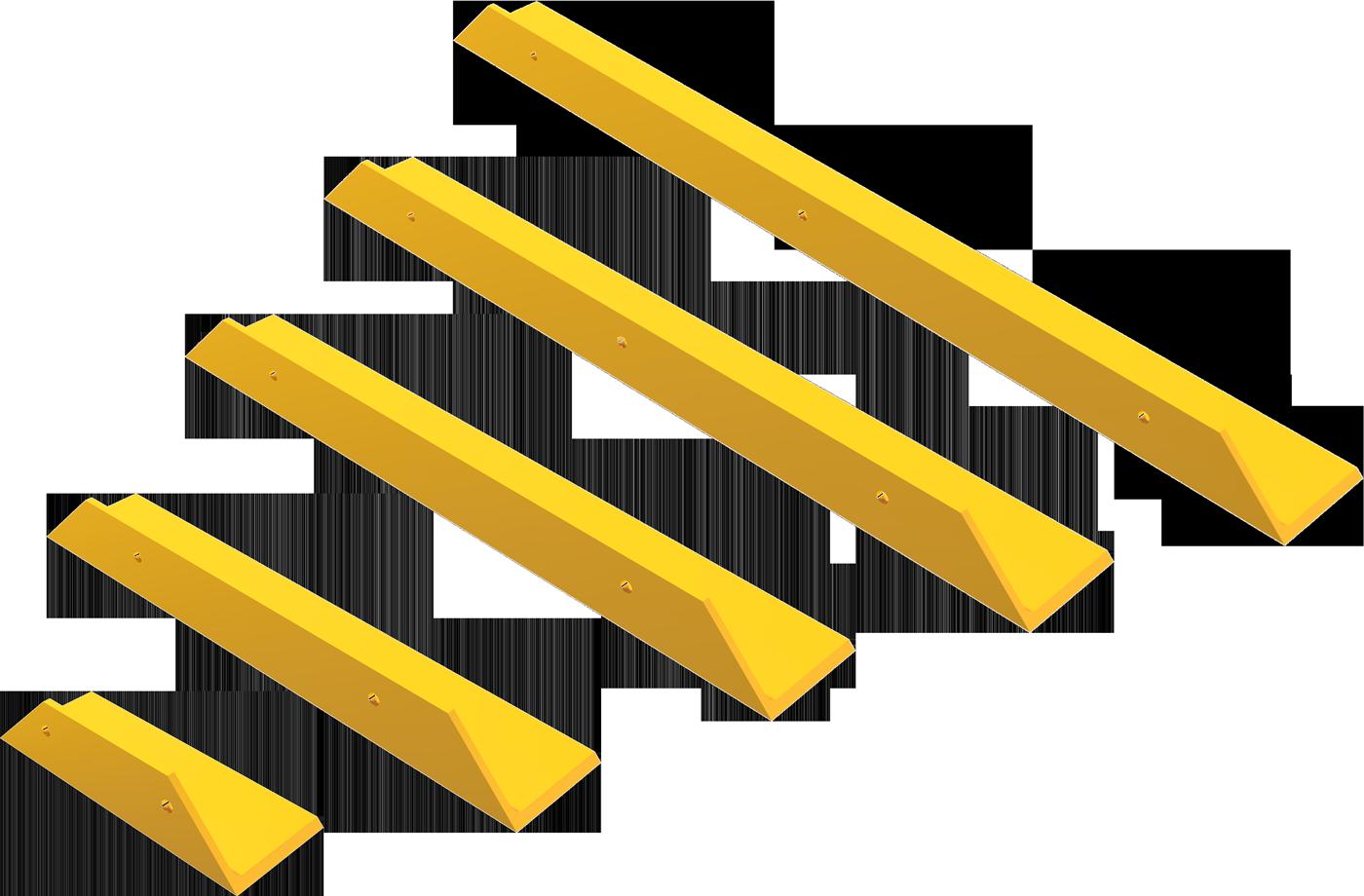 Schake Schrammbord Stahl gelb