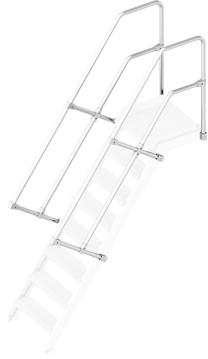 Layher Handlauf Geländer Plattformtreppe 55° 8 Stufen