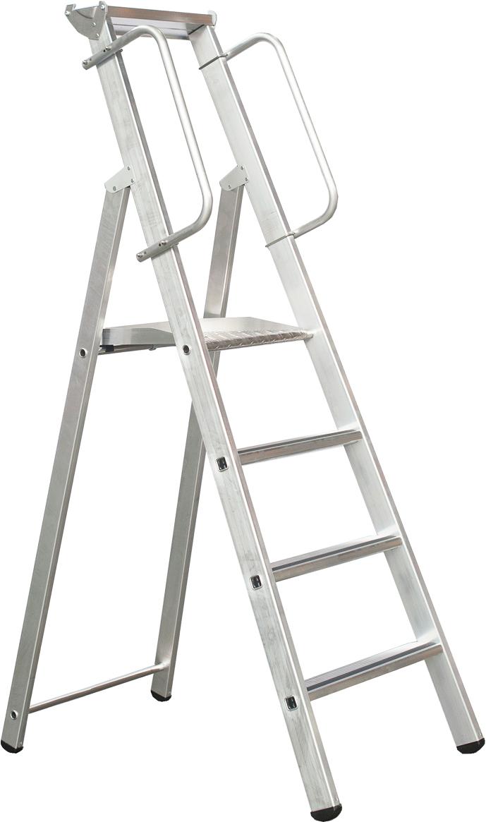 ZARGES Stufen Stehleiter Meistertritt S - 4 Stufen