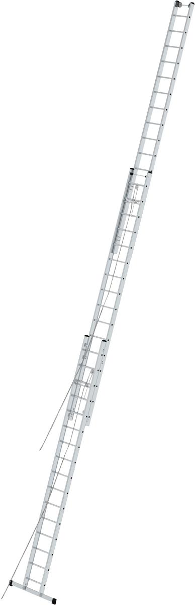 Krause Alu-Sprossenseilzugleiter 3-teilig 3x14 Sprossen