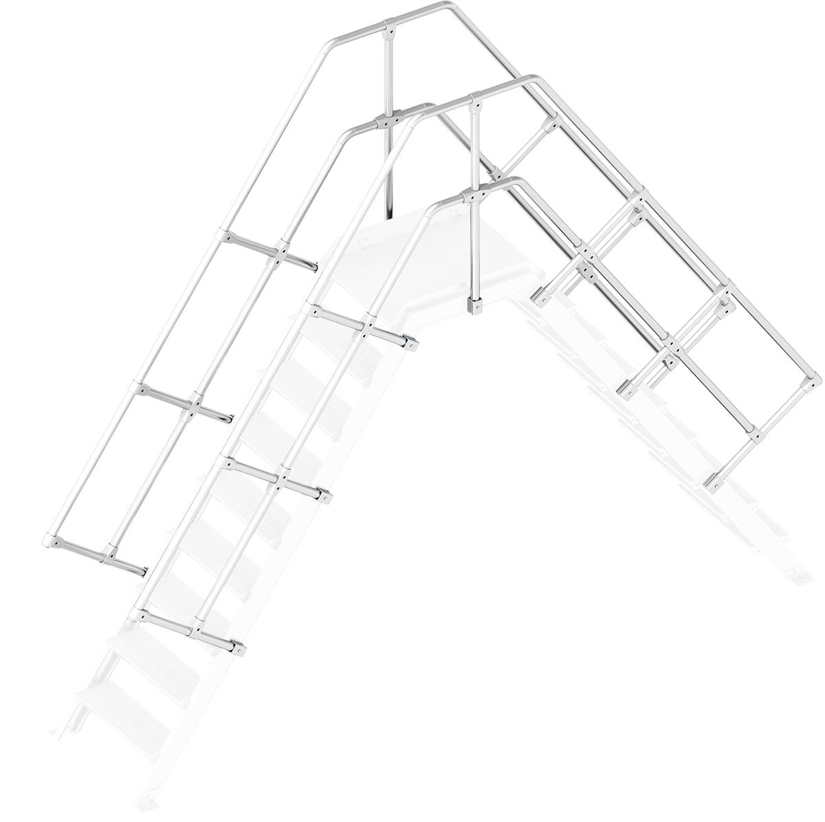 Layher Handlauf Geländer Übergang 55° 9 Stufen