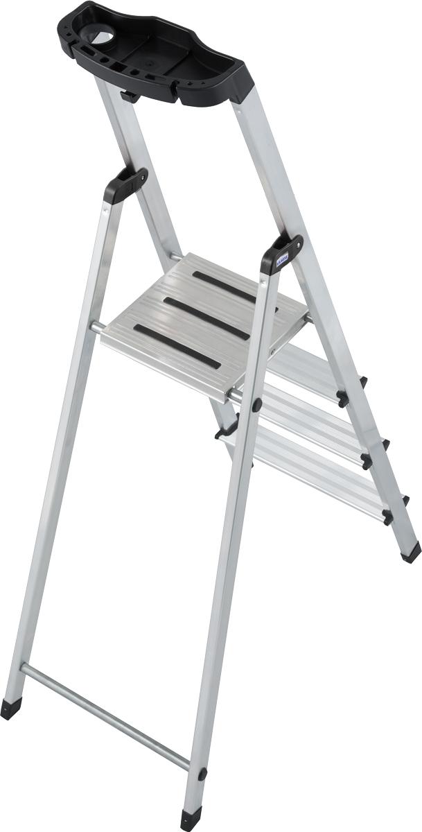 Krause Alu-Stufenstehleiter Safety 4 Stufen