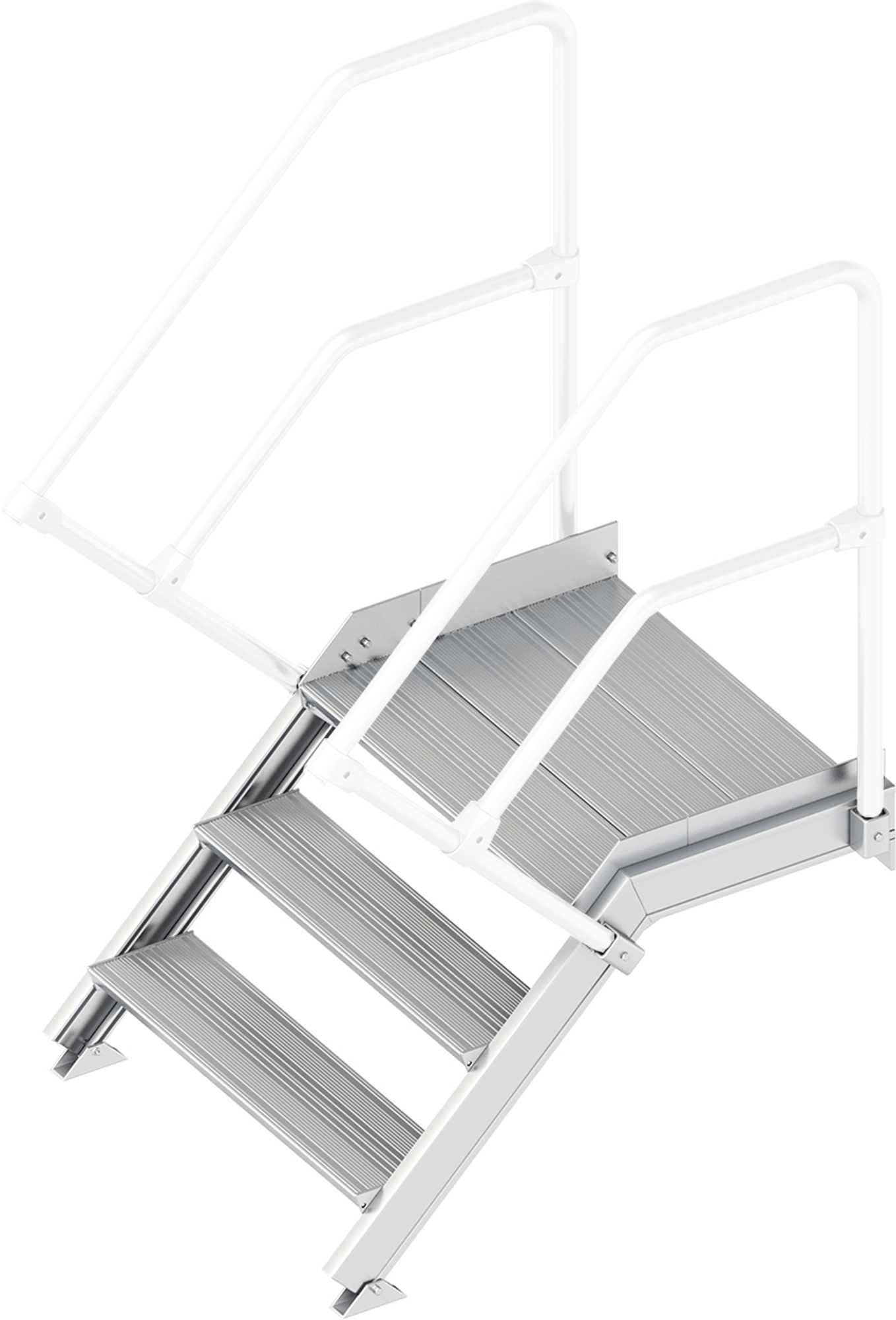 Layher Plattformtreppe 45° 3 Stufen - 800 mm breit