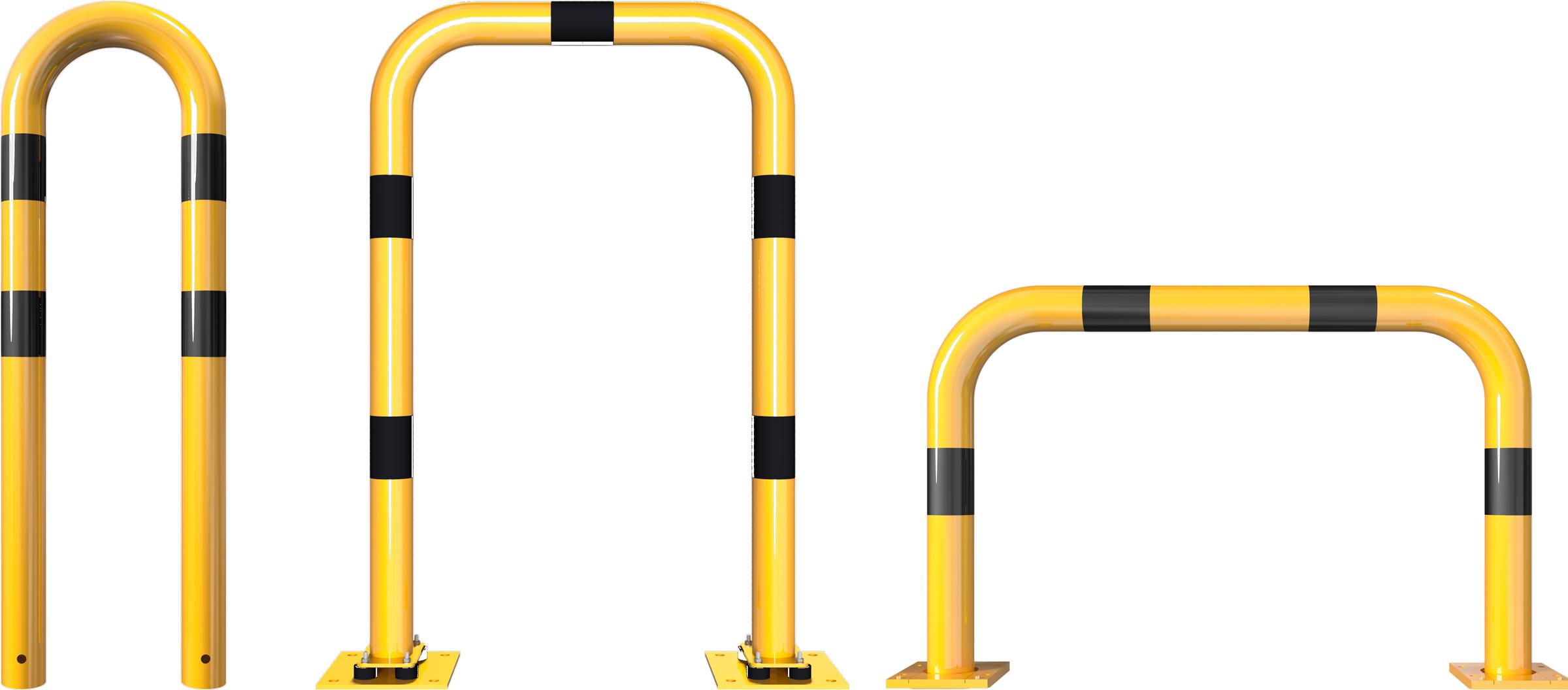 Schake Rammschutzbügel Stahl Ø 76 mm gelb | schwarz