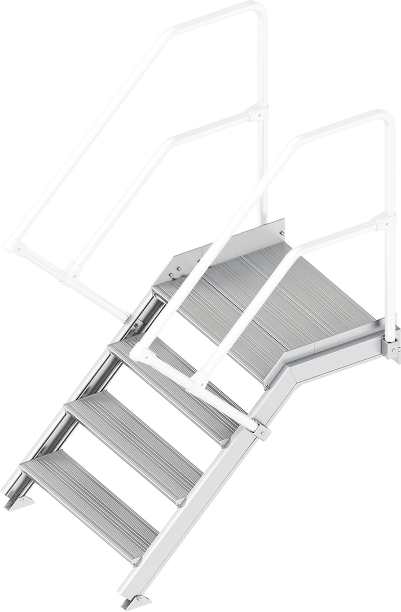 Layher Plattformtreppe 45° 4 Stufen - 800 mm breit