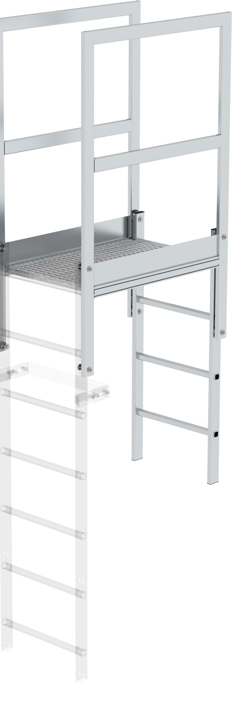 Günzburger Attika-Überstieg Aluminium blank