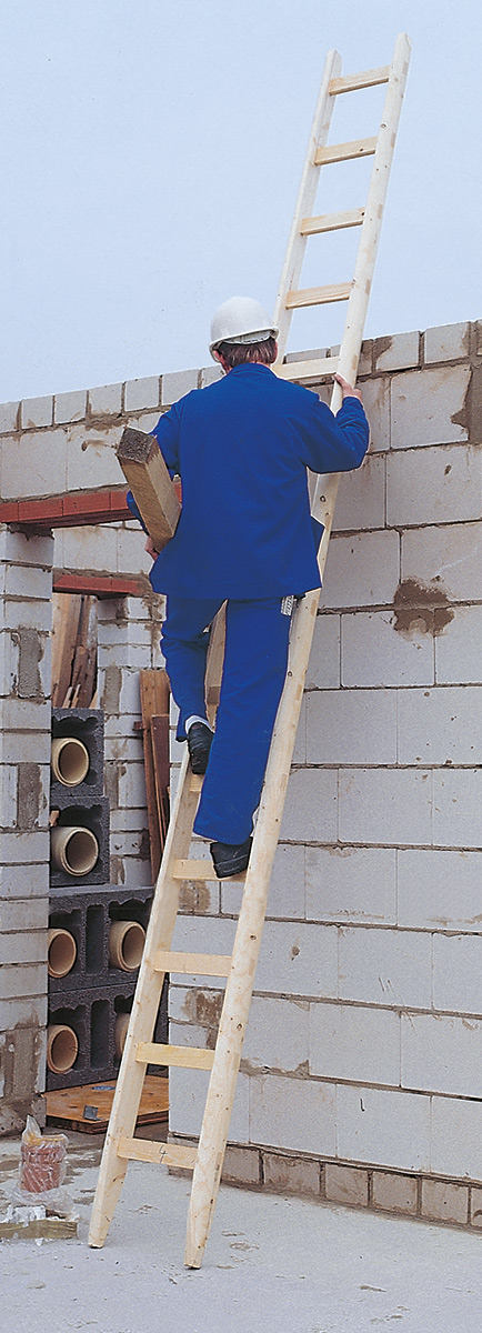 euroline Anlegeleiter Holz Sprossen