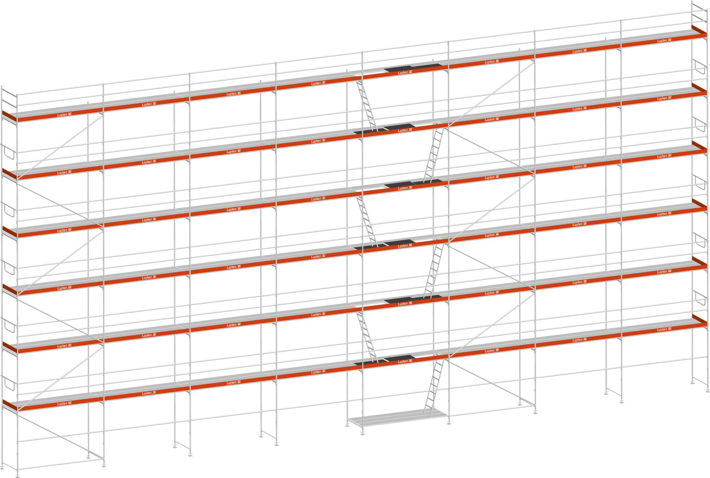 Layher Blitz Gerüst 100 Stahl 292 m²