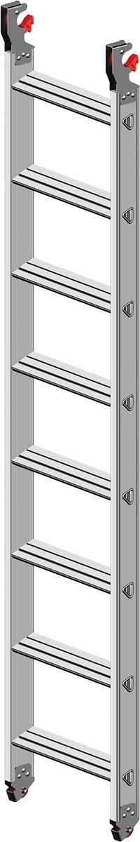 Layher Fahrgerüst Alu-Stufeneinhängeleiter 8 Stufen