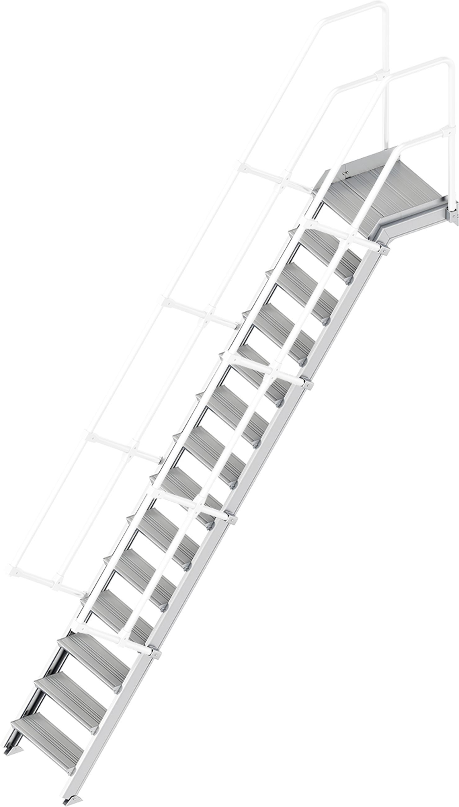 Layher Plattformtreppe 55° 14 Stufen - 600 mm breit