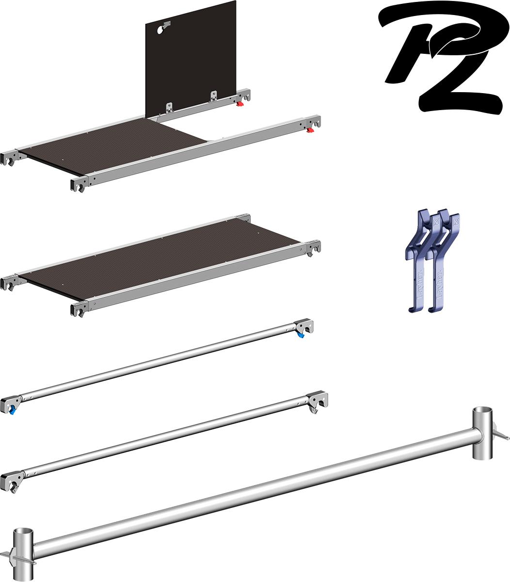 Layher Fahrgerüst Uni Leicht P2 Nachrüst-Set 3207