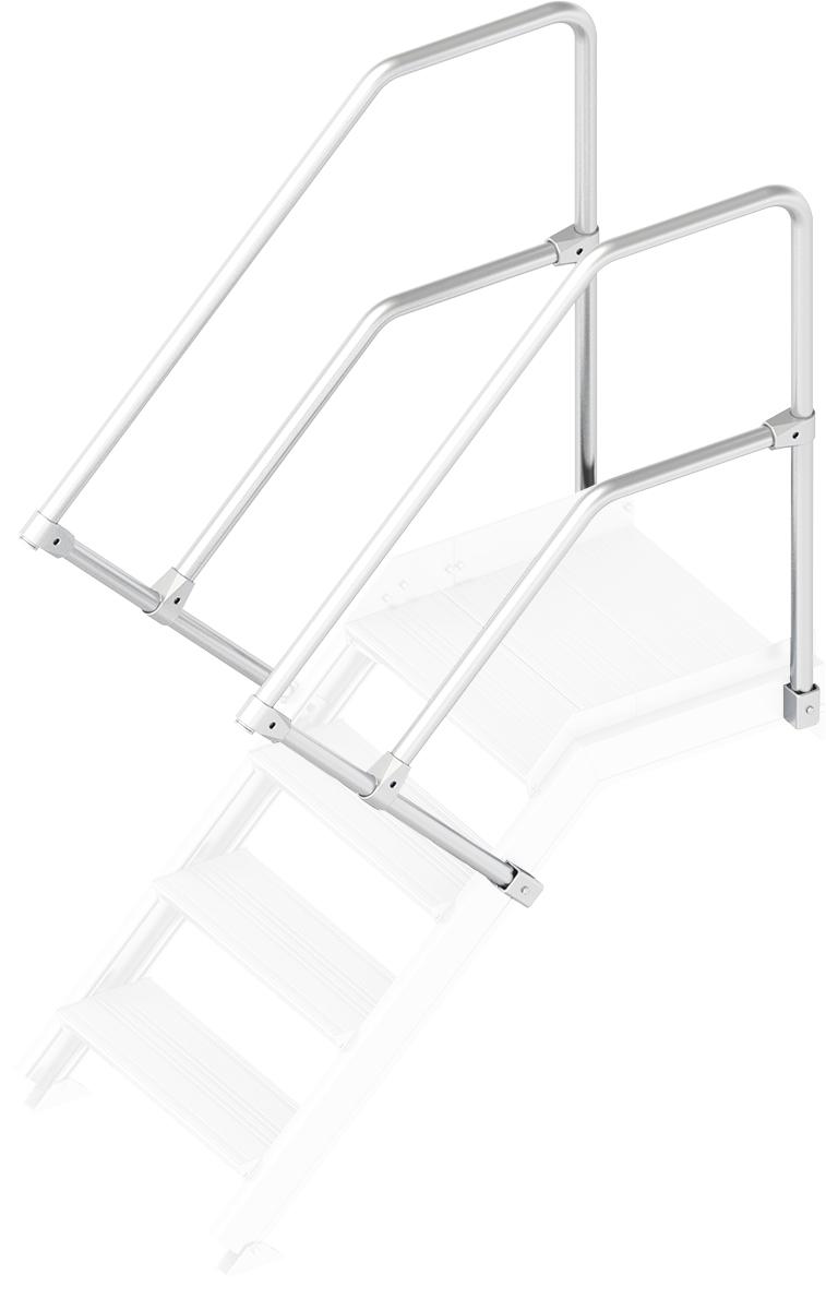 Layher Handlauf Geländer Plattformtreppe 45° 4 Stufen