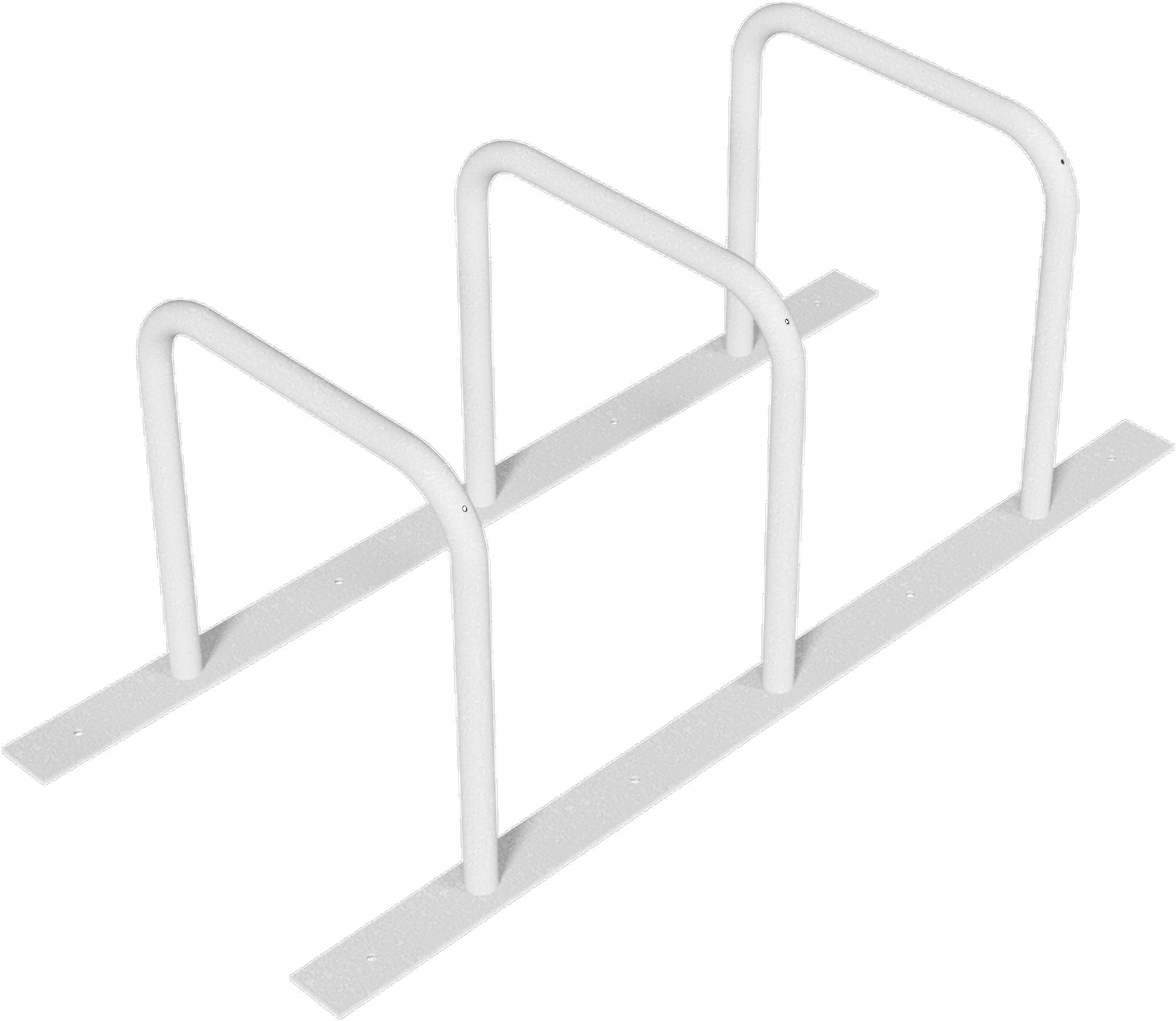 Schake Fahrradständer Anlehnbügel verschweißt Stahl OD Ø 48 mm - 3 Einstellplätze