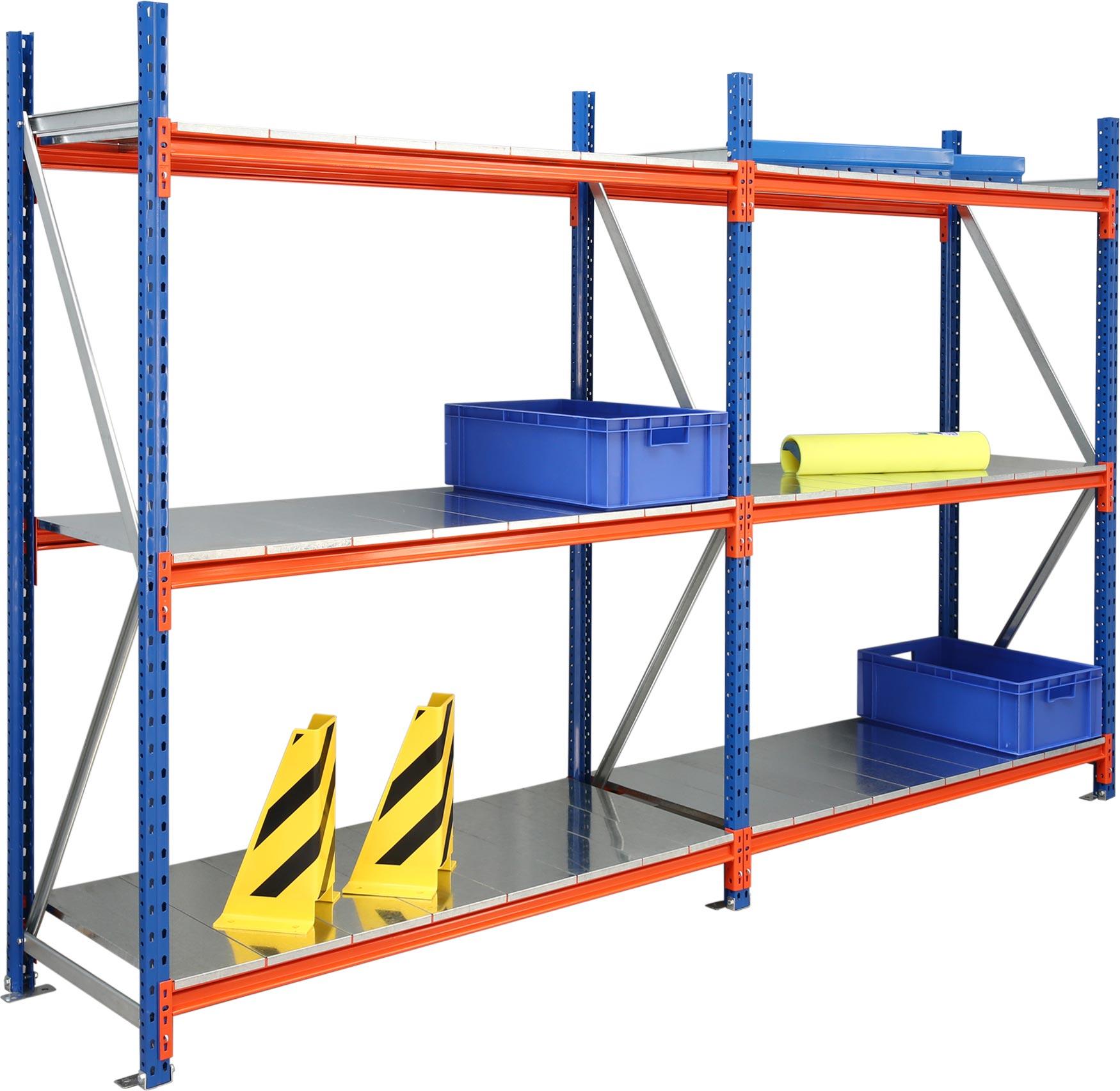 Regalwerk EMMA Weitspannregal mit Stahlauflage