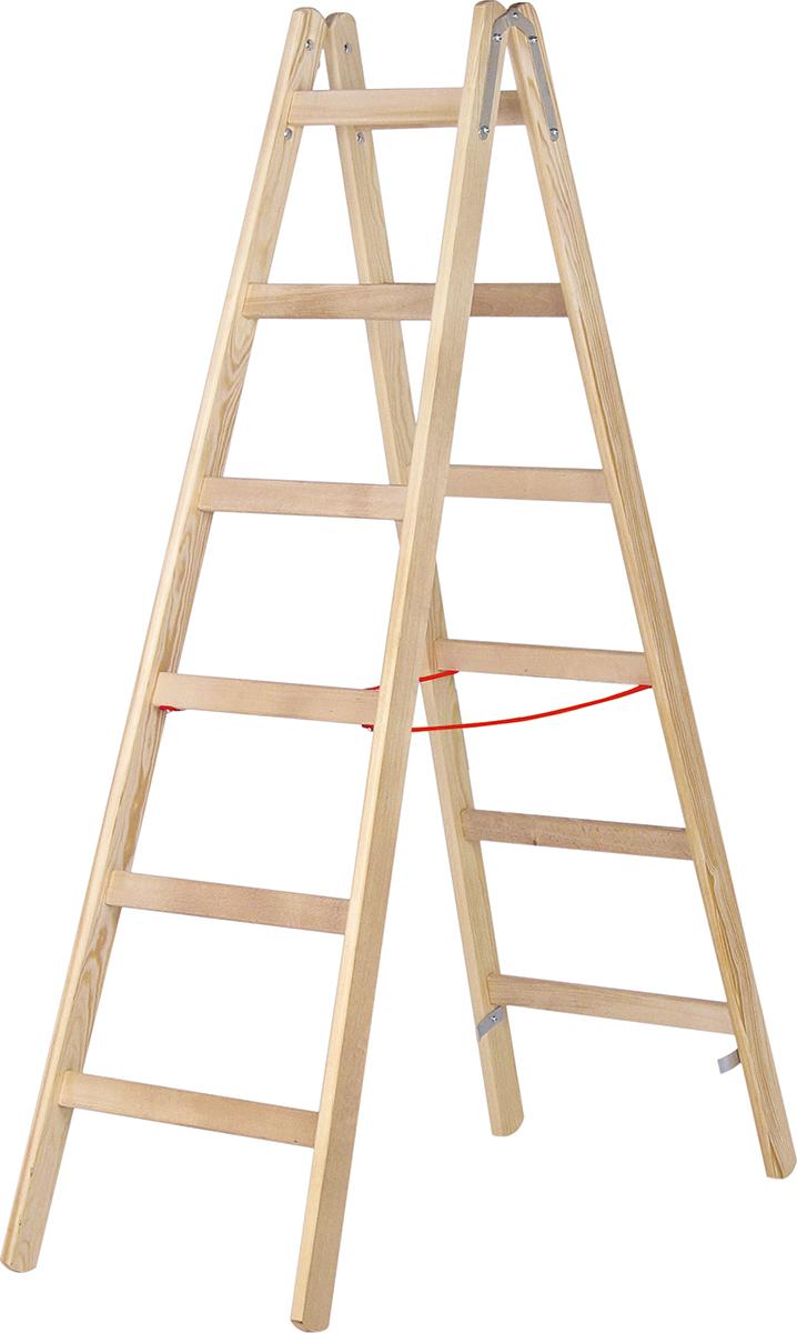 Hymer Stehleiter Holz 2x12 Sprossen