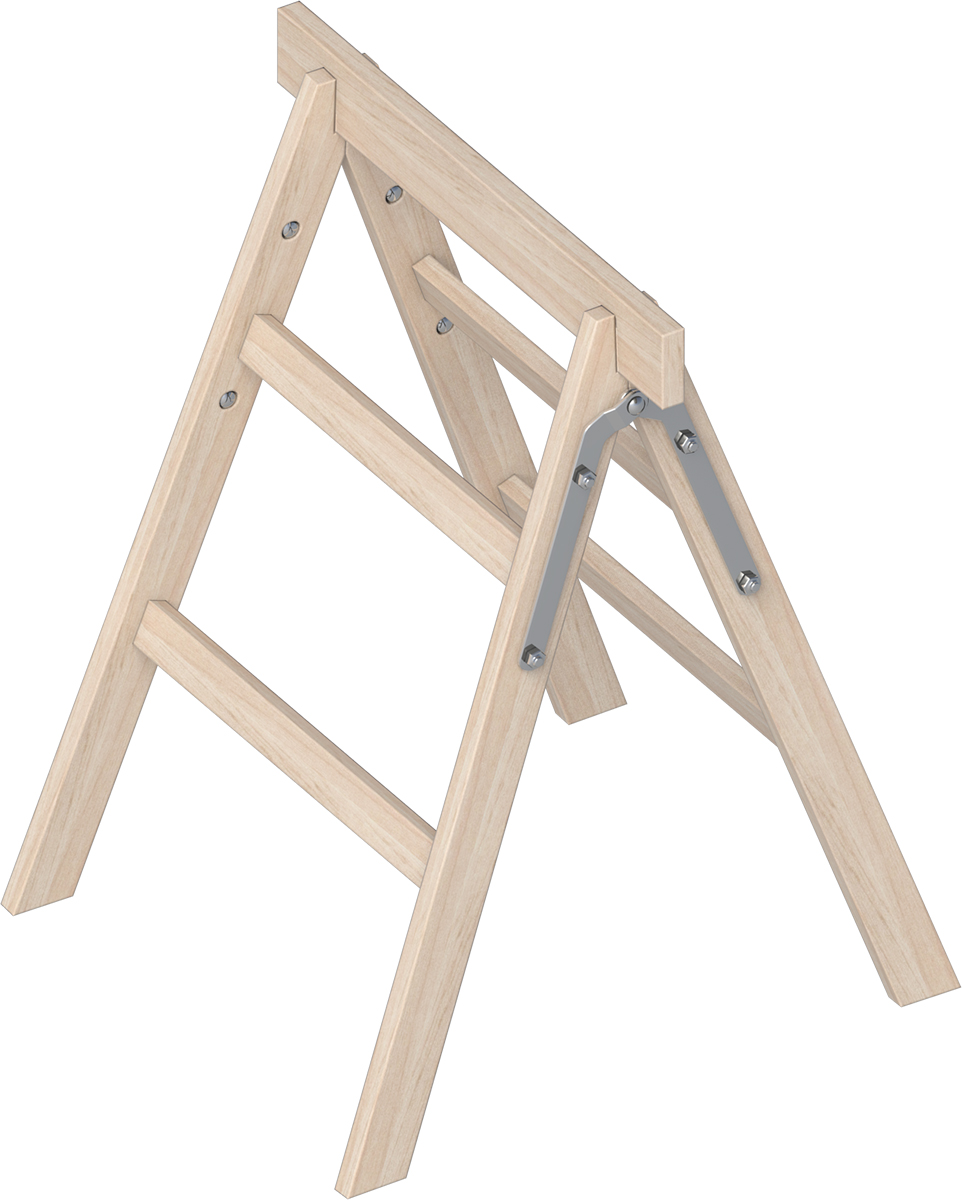 Layher Tapezierbock Holz 2 Stufen
