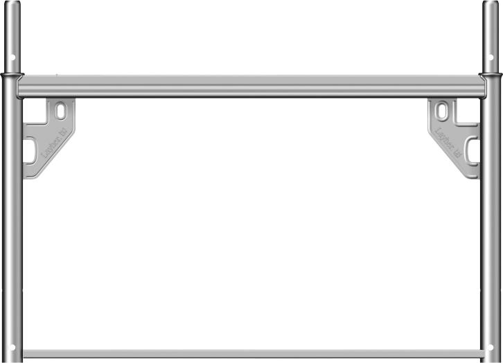 Layher Blitz Ausgleichsrahmen Stahl 0,66 x 1,09 m