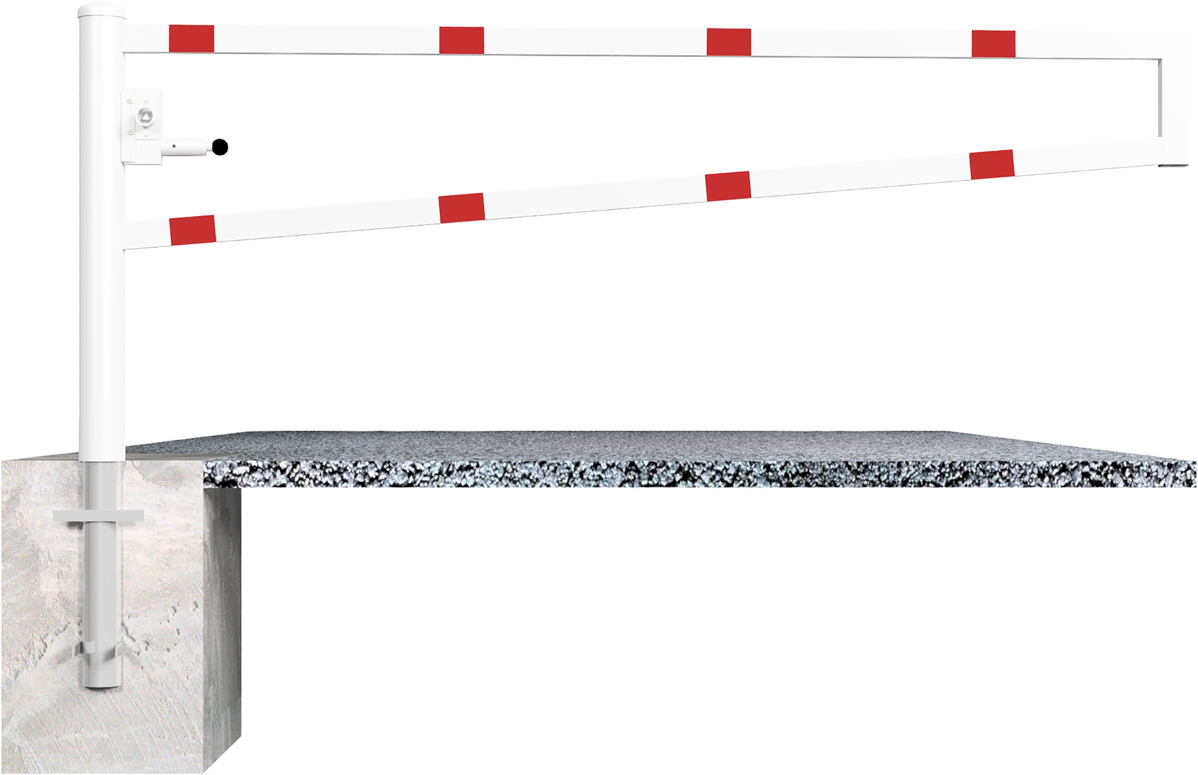 Schake Drehschranke - Schrankenbaum 60 x 40 mm weiß | rot