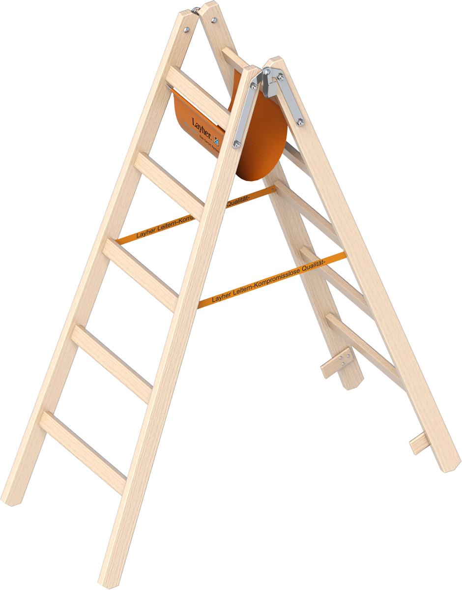 Holzstehleiter