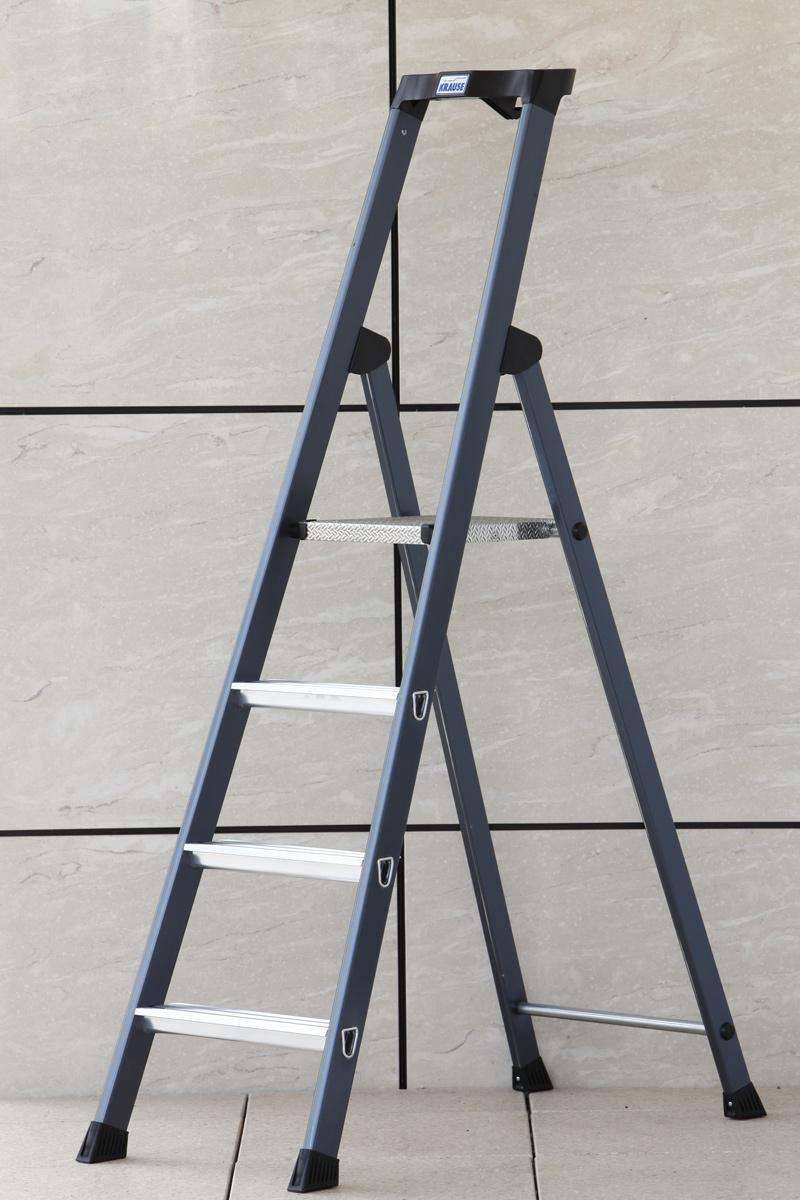 Krause Alu-Stufenstehleiter Sepro® S eloxiert 4 Stufen