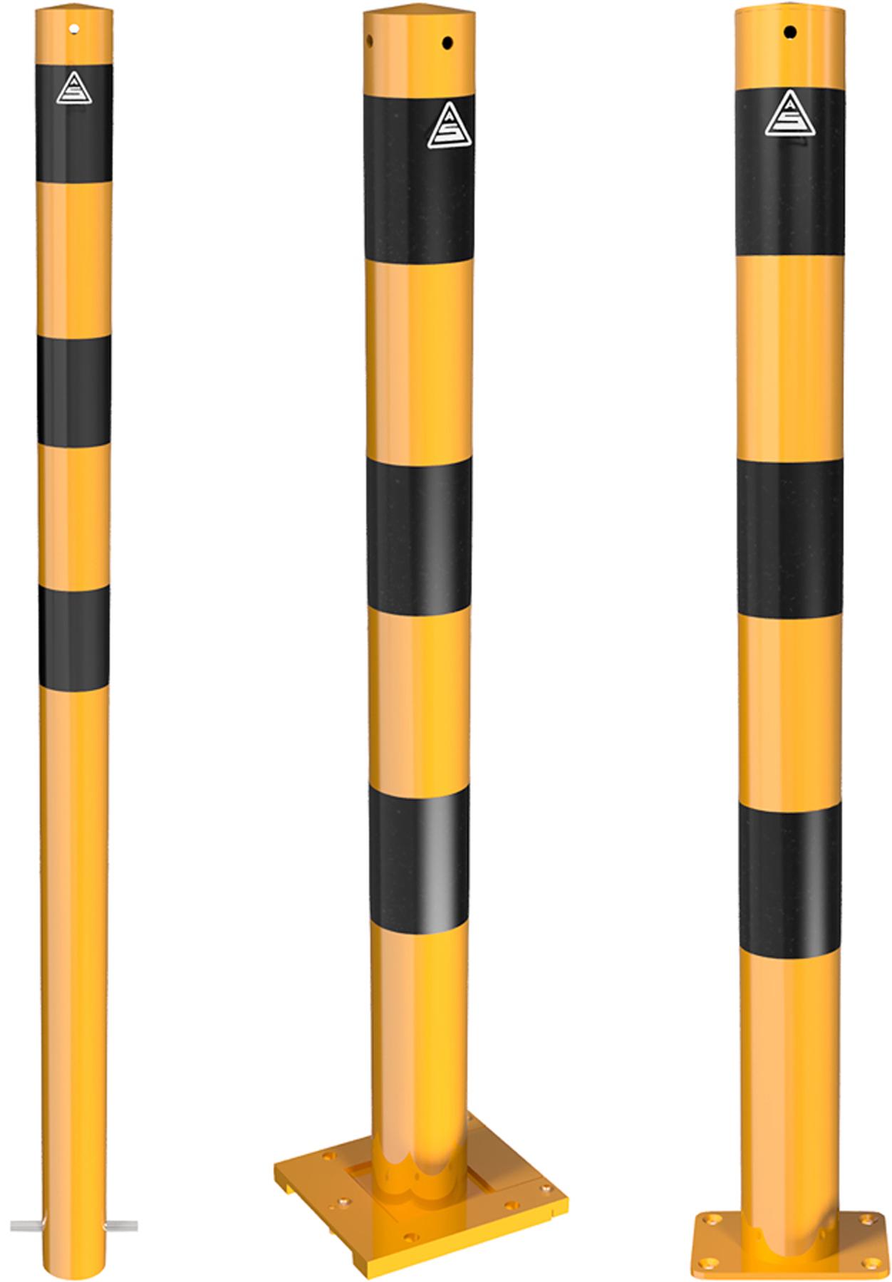 Schake Absperrpfosten Ø 76 mm gelb | schwarz