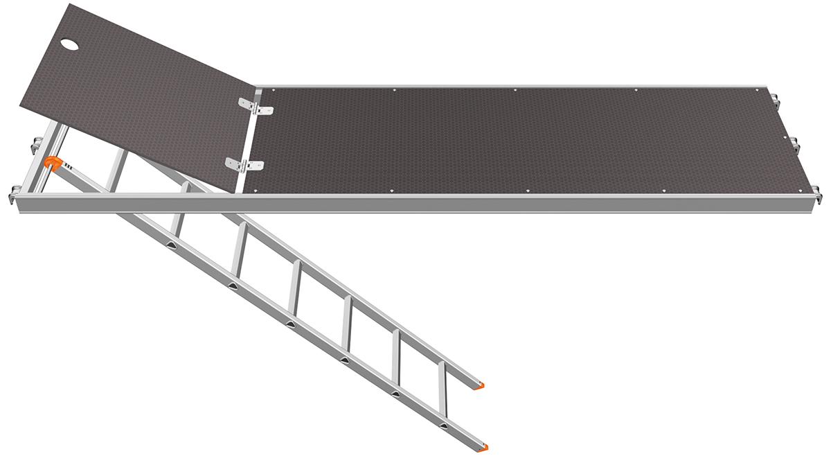 Layher U-Robust-Durchstieg 0,61 m mit integrierter Etagenleiter