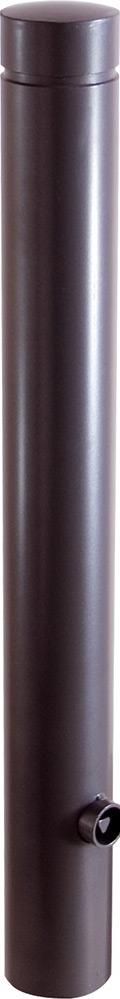 Schake Stilpoller 40101 OE Ø 100 mm anthrazit Aluminumpoller mit Flachkopf - ortsfest - zum Einbetonieren (SK-40101B) Bild-01