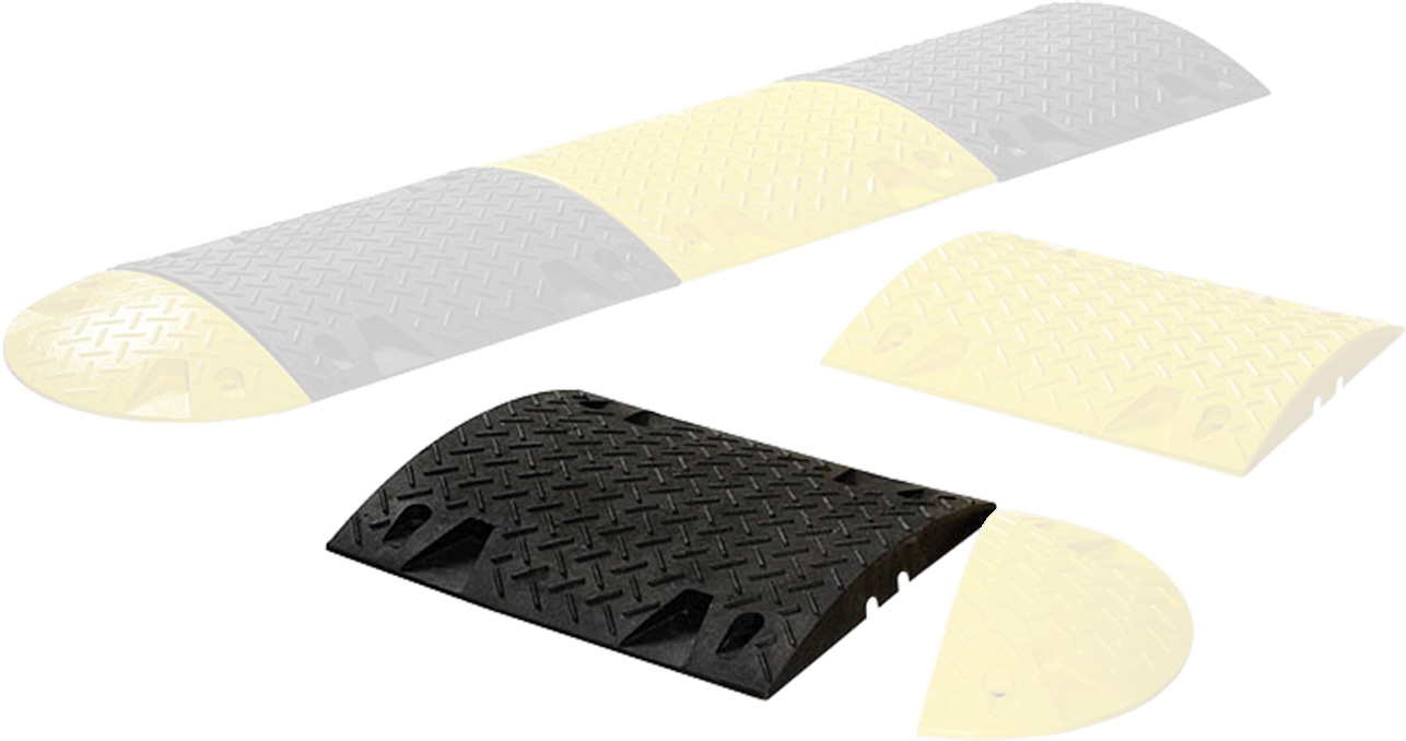 Schake Bodenschwelle Mittelstück schwarz 30 mm