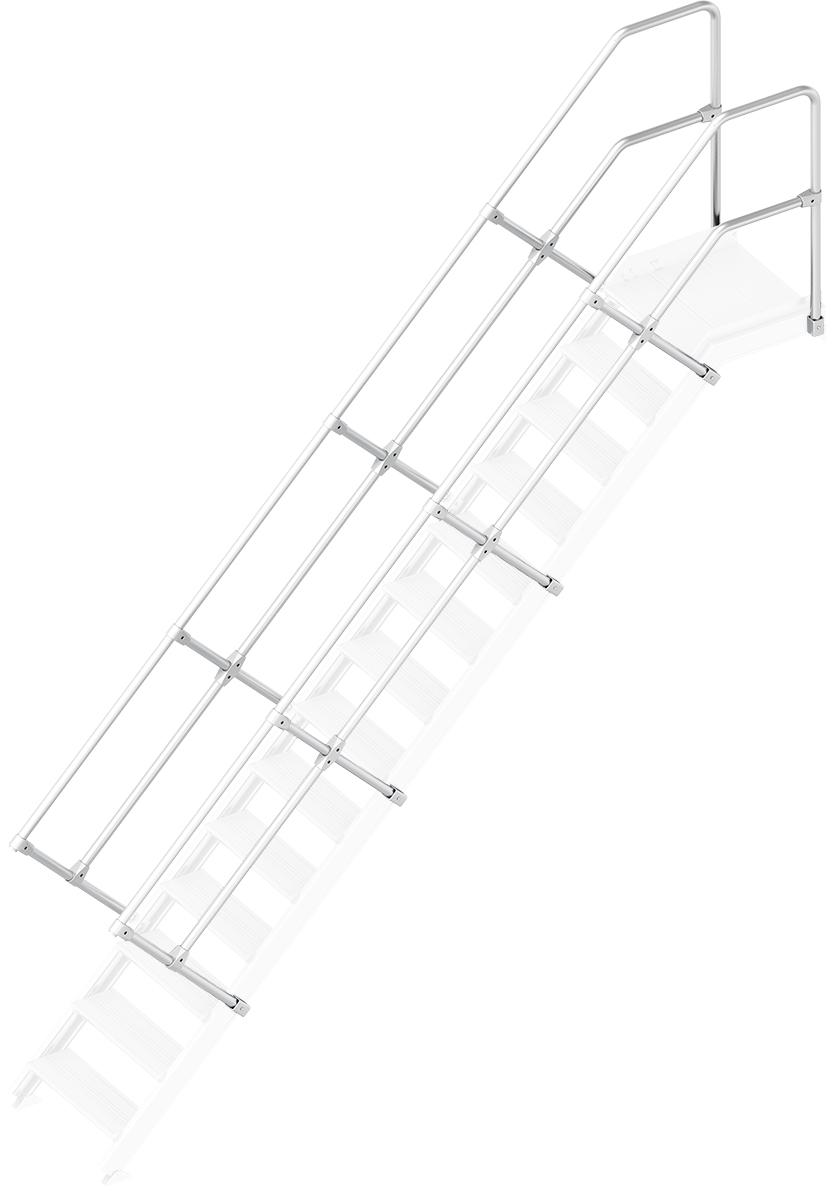 Layher Handlauf Geländer Plattformtreppe 45° 14 Stufen