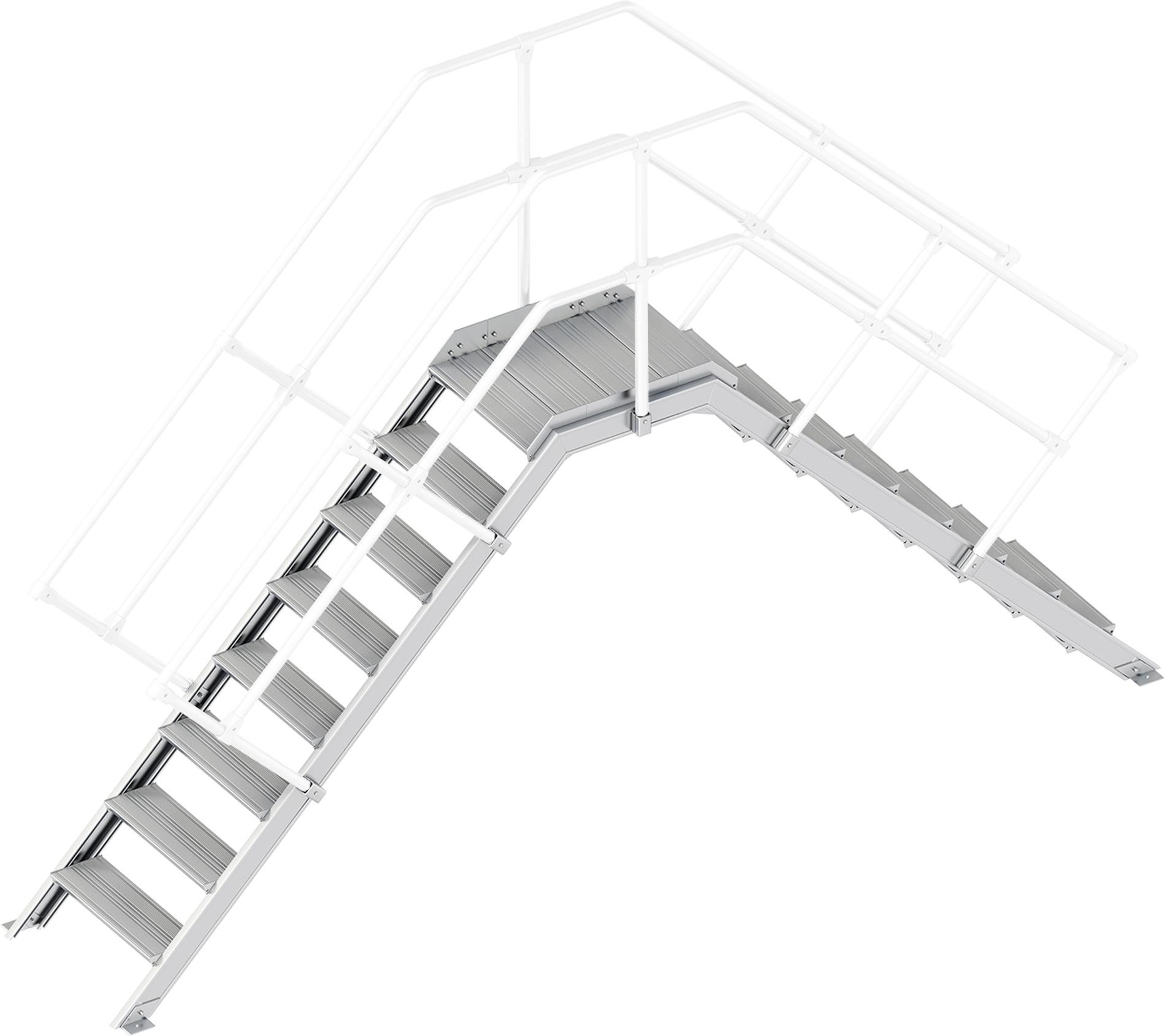 Layher Übergang 45° 8 Stufen - 600 mm breit