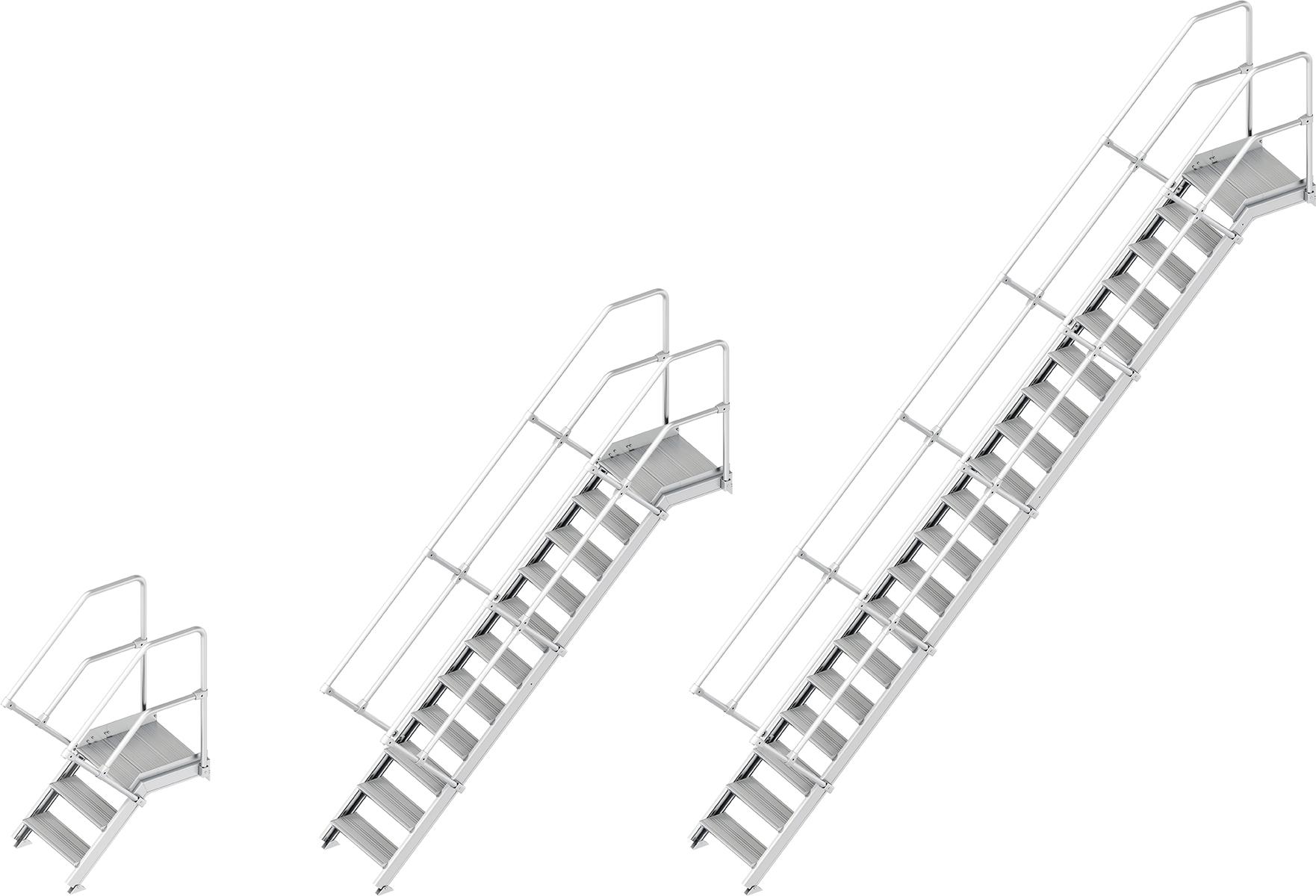 Layher Plattformtreppe 45° - 600 mm breit