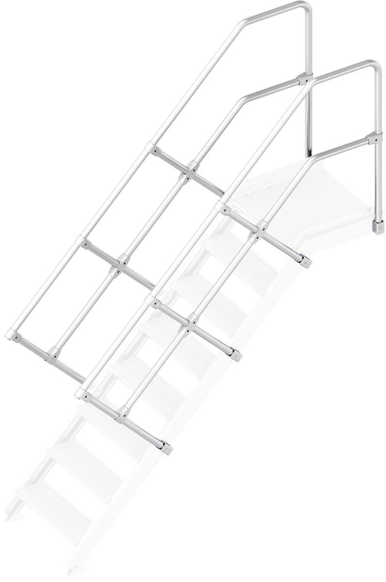 Layher Handlauf Geländer Plattformtreppe 45° 8 Stufen