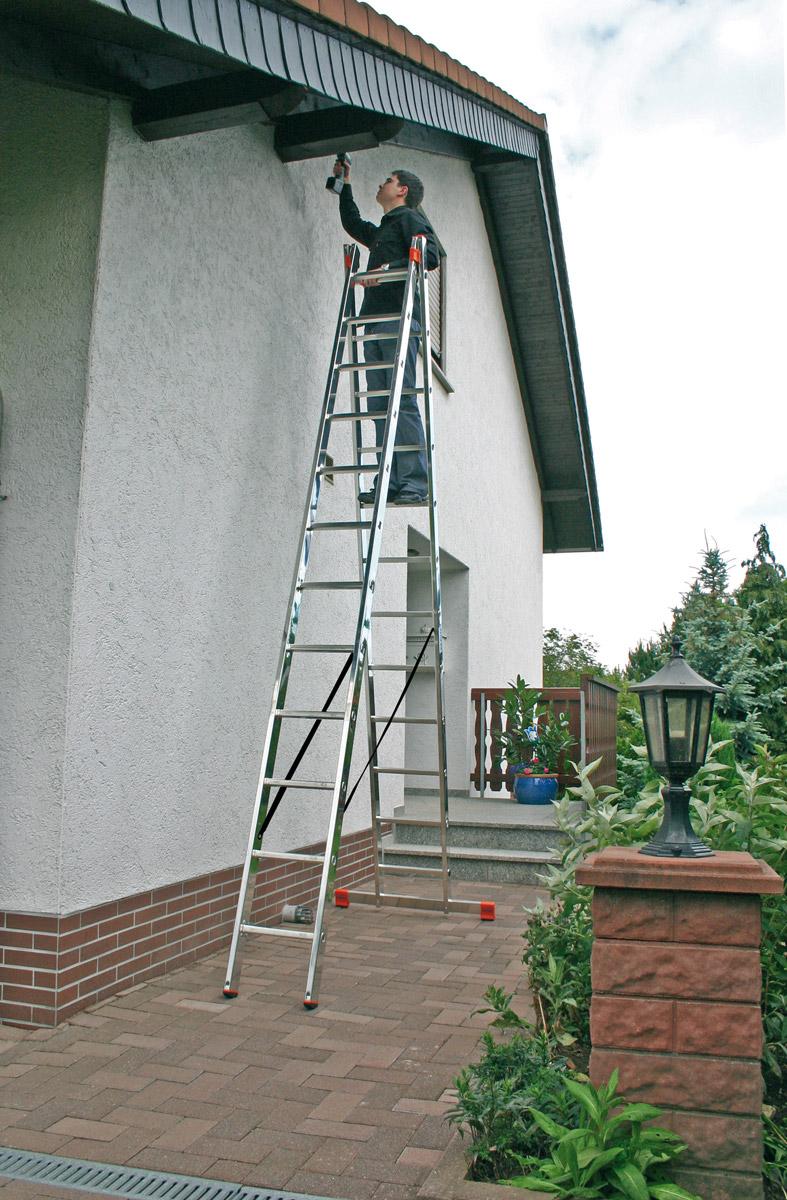 Krause Monto Alu-Sprossenmehrzweckleiter 2x12 Sprossen