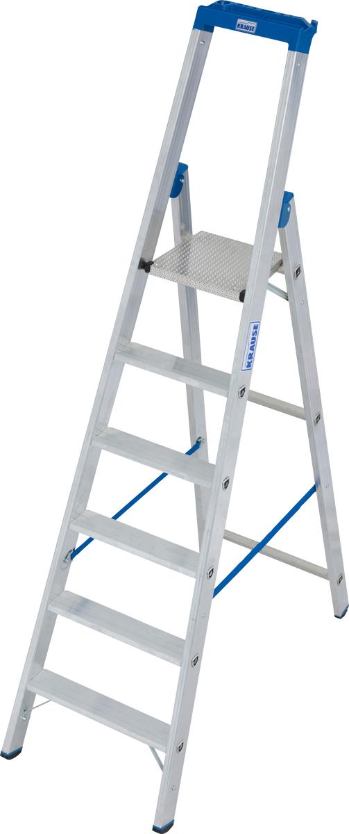Krause Alu-Stufenstehleiter 6 Stufen